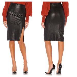 COMMANDO Faux Leather Midi Pencil Skirt NWT SK11